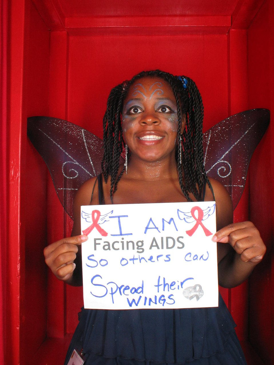 I am Facing AIDS so others can spread their wings.