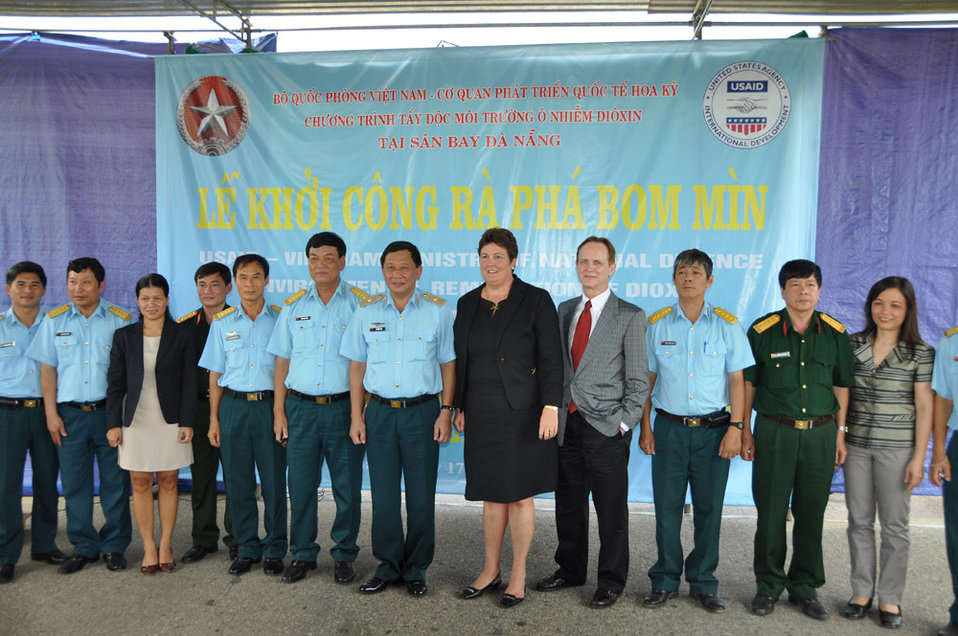 UXO clearance ceremony, June 17, 2011, in Danang, Vietnam.