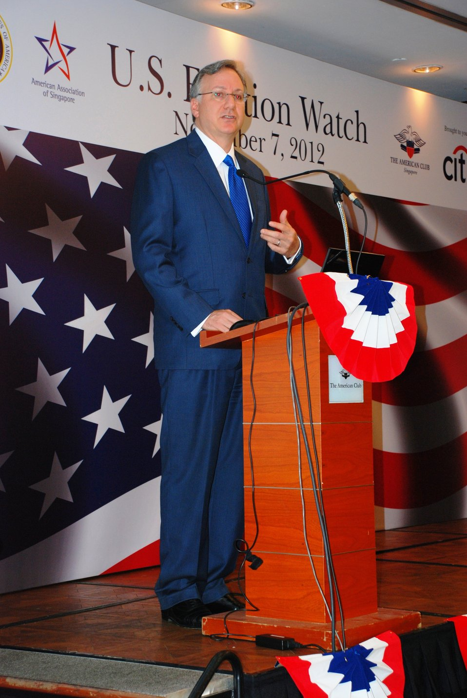 Ambassador Adelman Delivers Remarks at the 2012 U.S. Election Watch Event