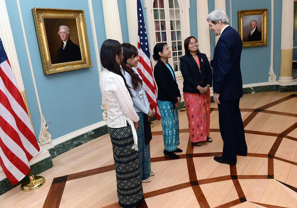 Secretary Kerry Meets With Burmese Women Leaders