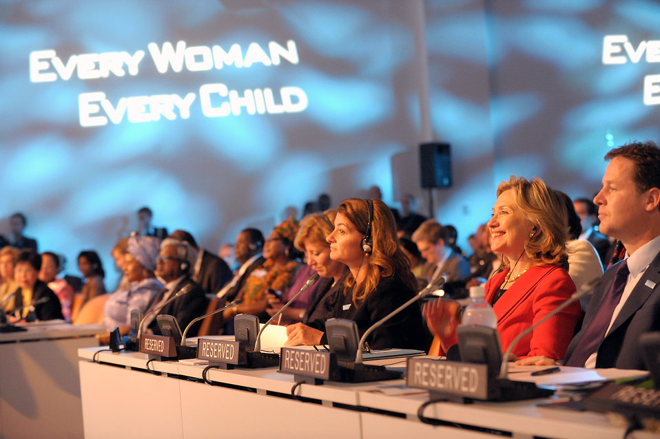 Secretary Clinton Participates in the 'Every Woman, Every Child' Event