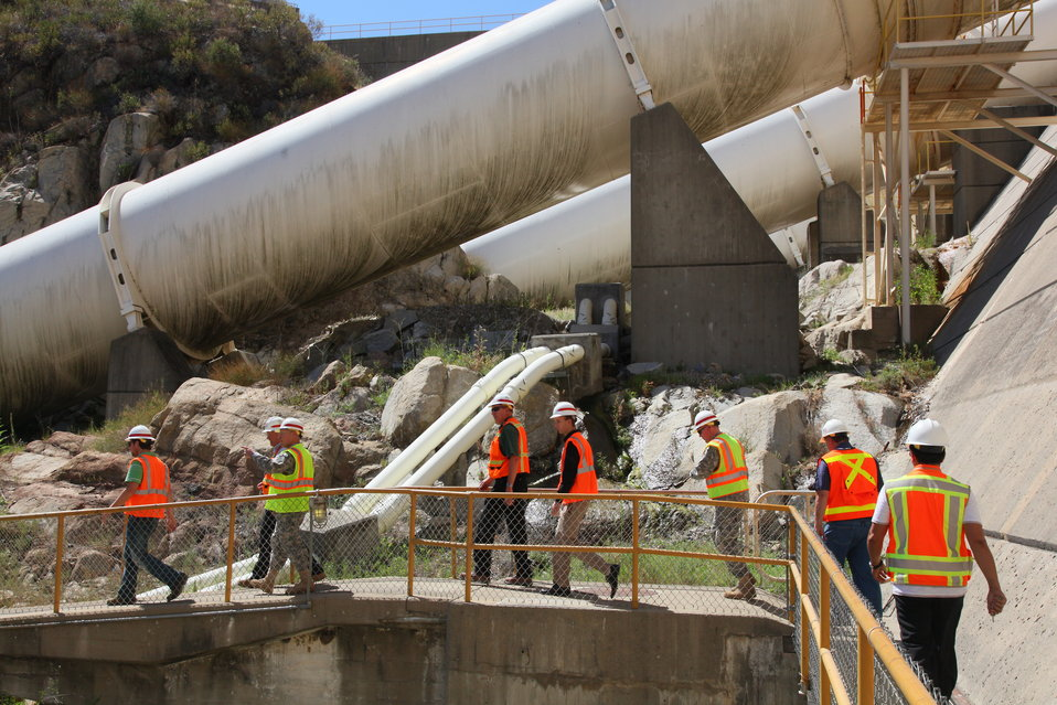 CSM Buxbaum takes a walking tour of Folsom dam