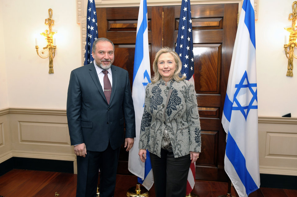 Secretary Clinton Meets With Israeli Deputy Prime Minister and Foreign Minister Liberman