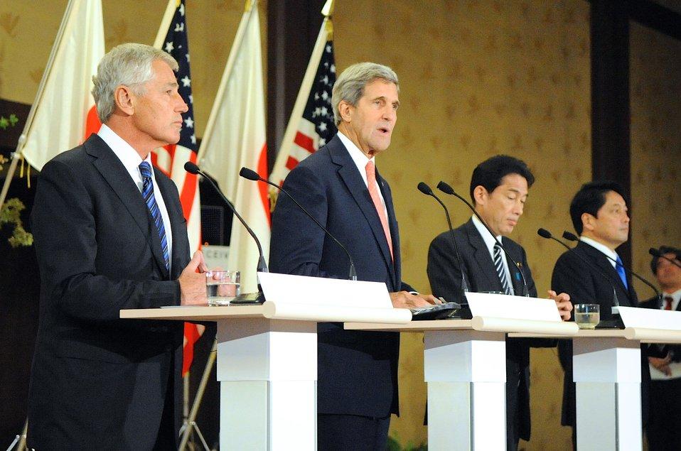 Secretary Kerry Address Reporters