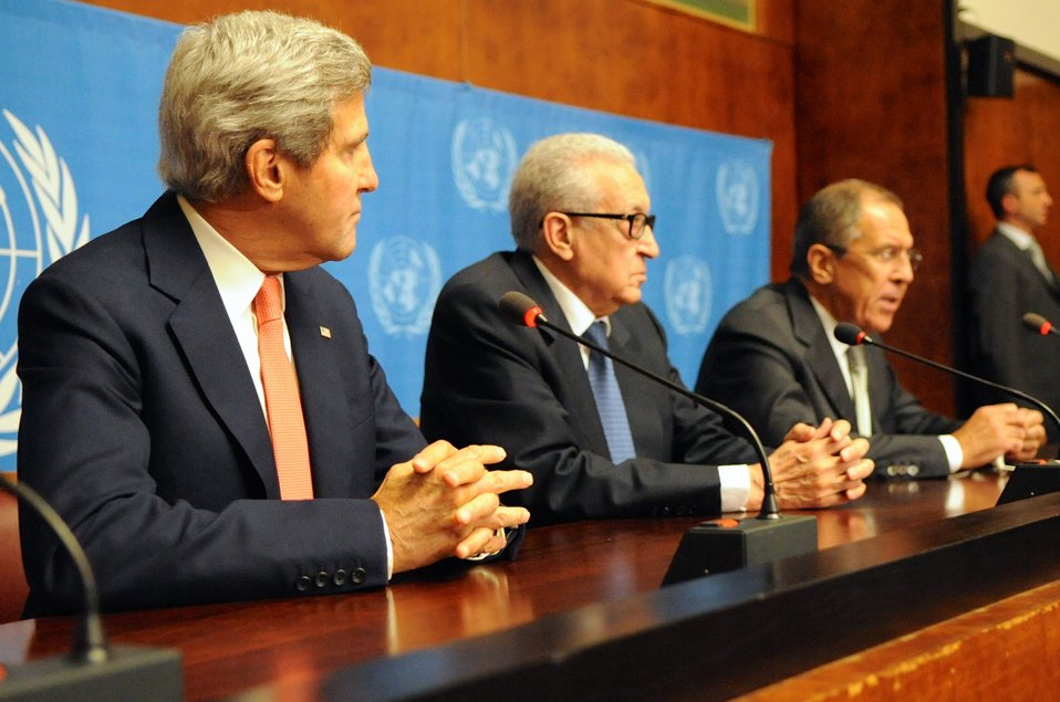 Secretary Kerry, Russian Foreign Minister Lavrov, UN Special Envoy Brahimi Address Press