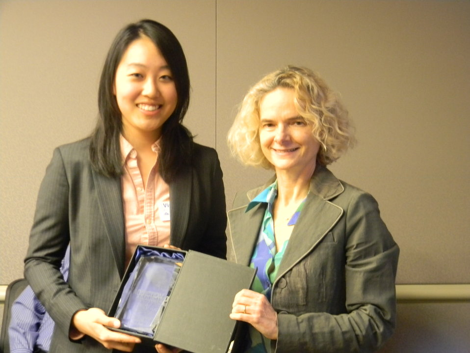 Sarah Pak and NIDA Director Dr. Nora Volkow