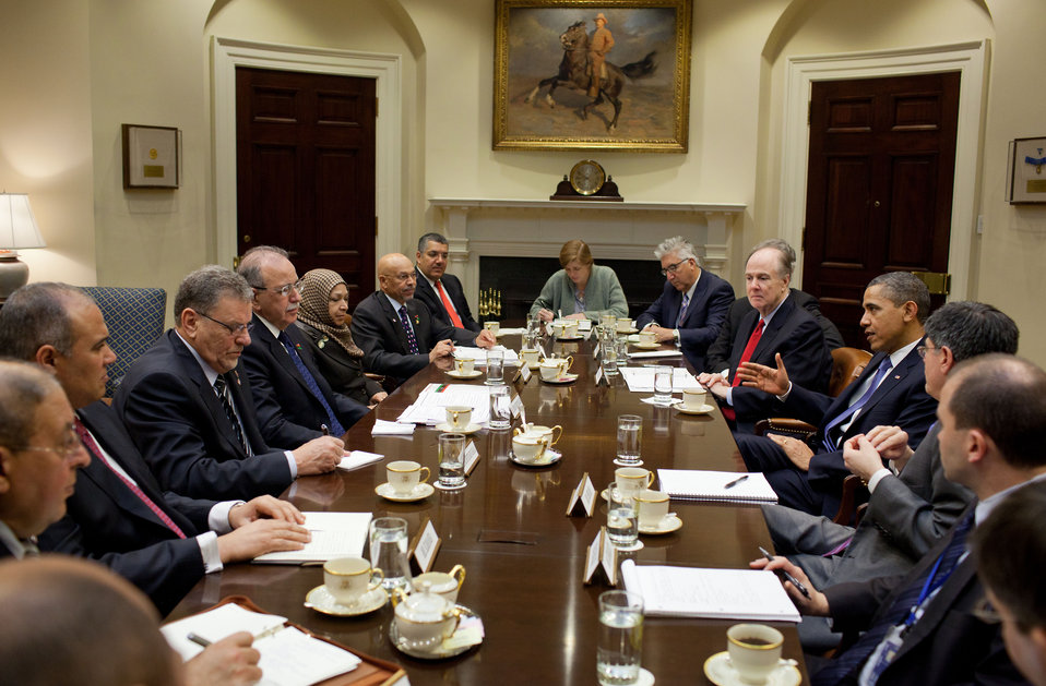 President Obama Meets With Libyan Prime Minister Dr. Abdurrahim Al-Keib