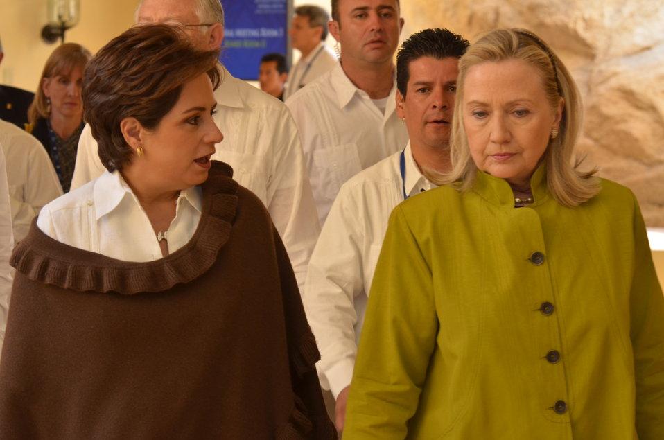 Secretary Clinton With Foreign Secretary Espinosa of Mexico