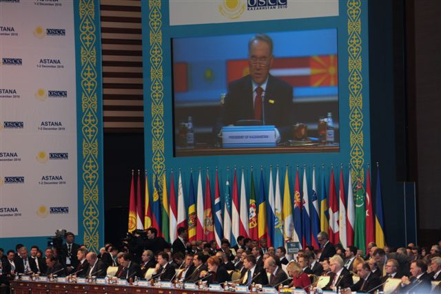 Secretary Clinton Participates in the OSCE Summit Plenary Session