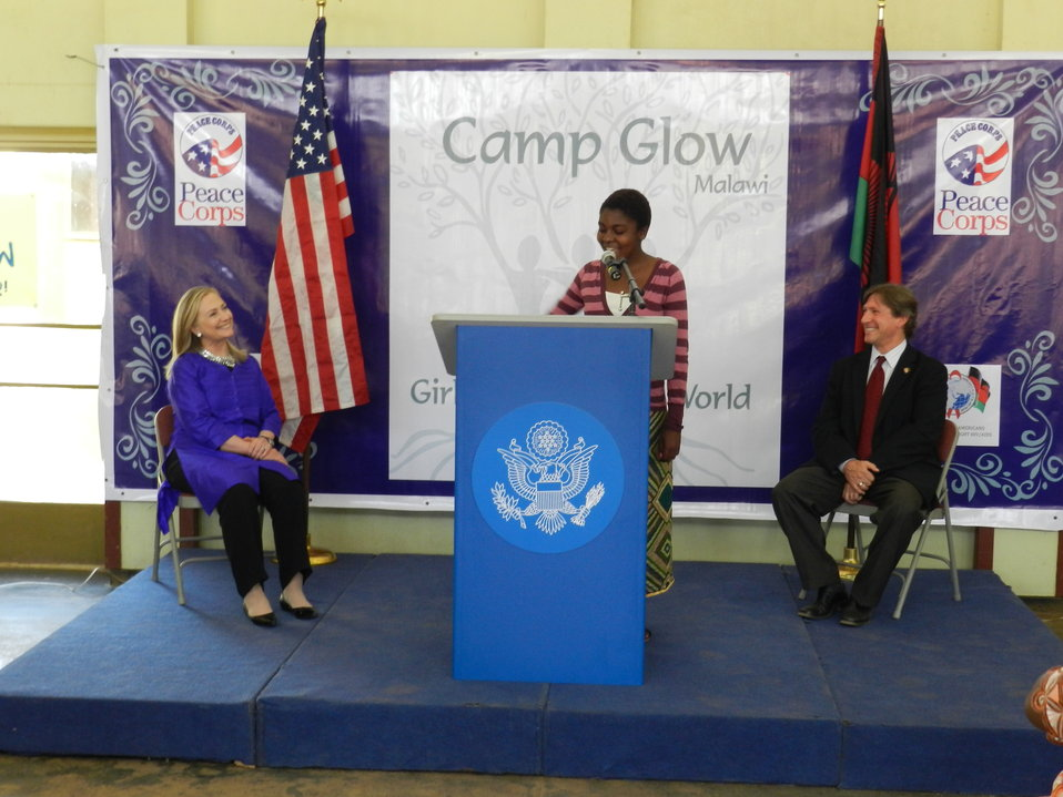 Secretary Clinton at Camp GLOW in Malawi