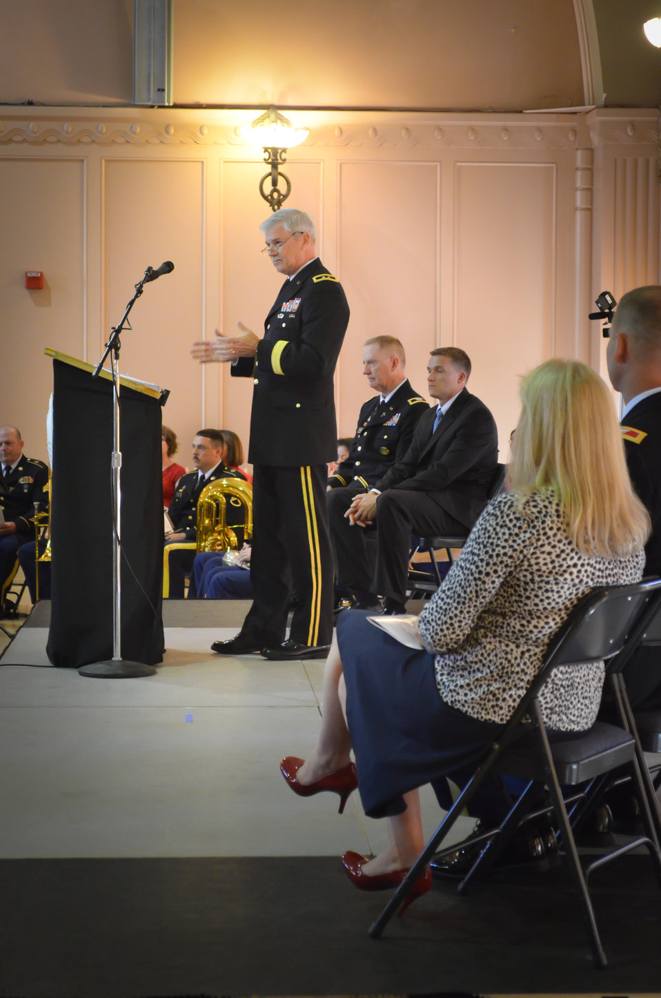 Major Gen. Walsh offers remarks
