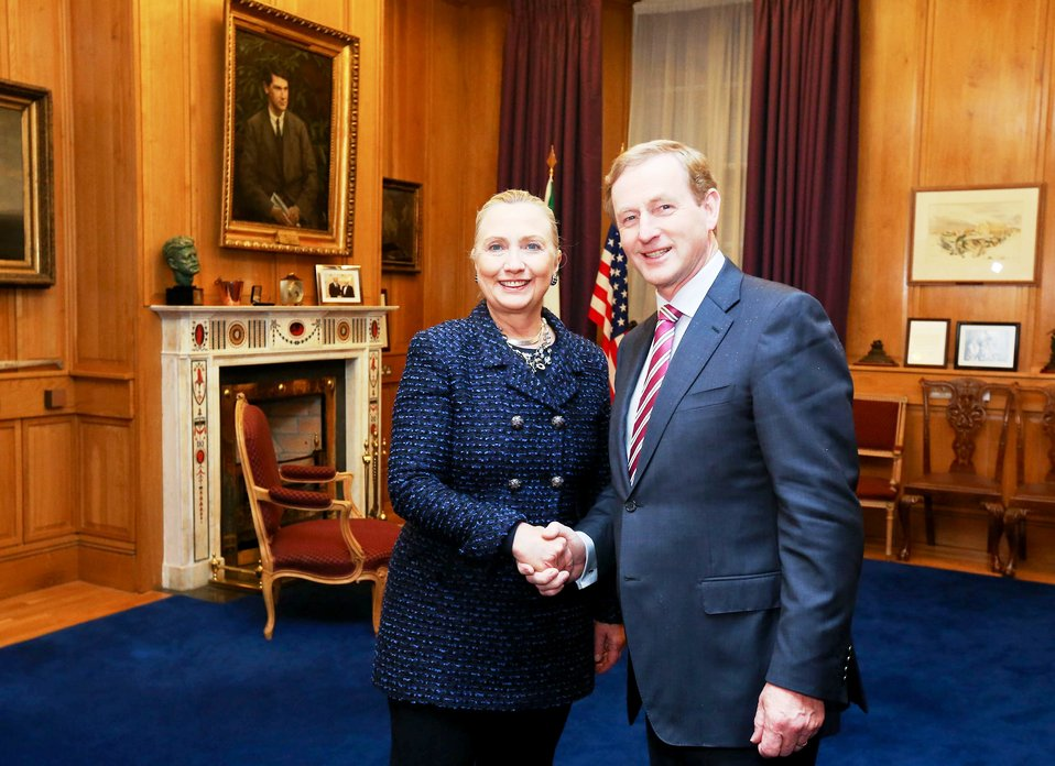 Secretary Clinton Meets With Taoiseach Kenny