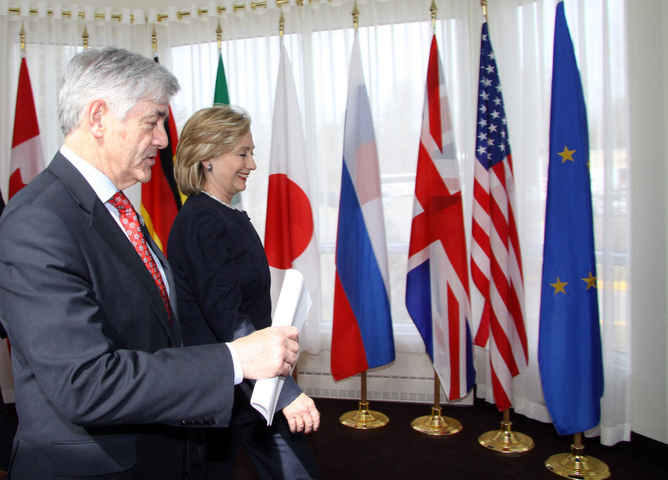 Secretary Clinton With Foreign Minister Cannon
