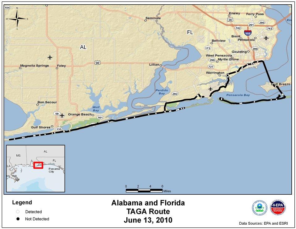 EPA TAGA Air Monitoring Locations June 13, 2010