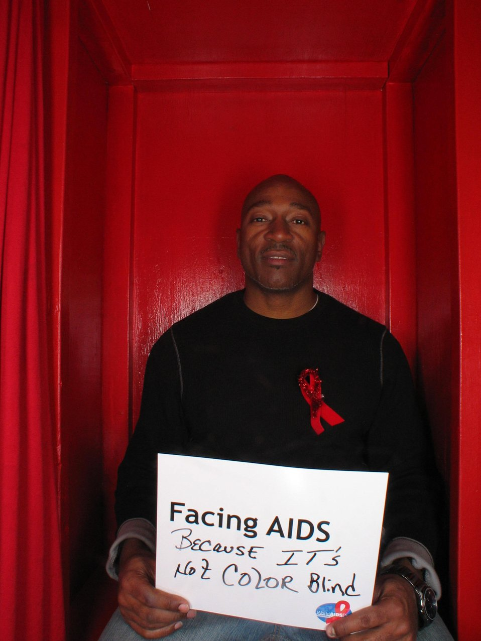 Facing AIDS because it's not color blind.