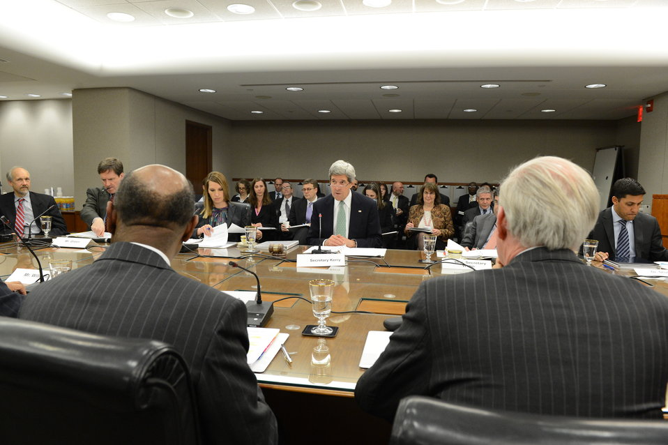 Secretary Kerry Hosts the Quarterly Millennium Challenge Corporation Board of Directors Meeting