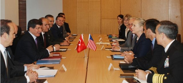 Secretary Clinton Meets With Turkish Foreign Minister Davutoglu