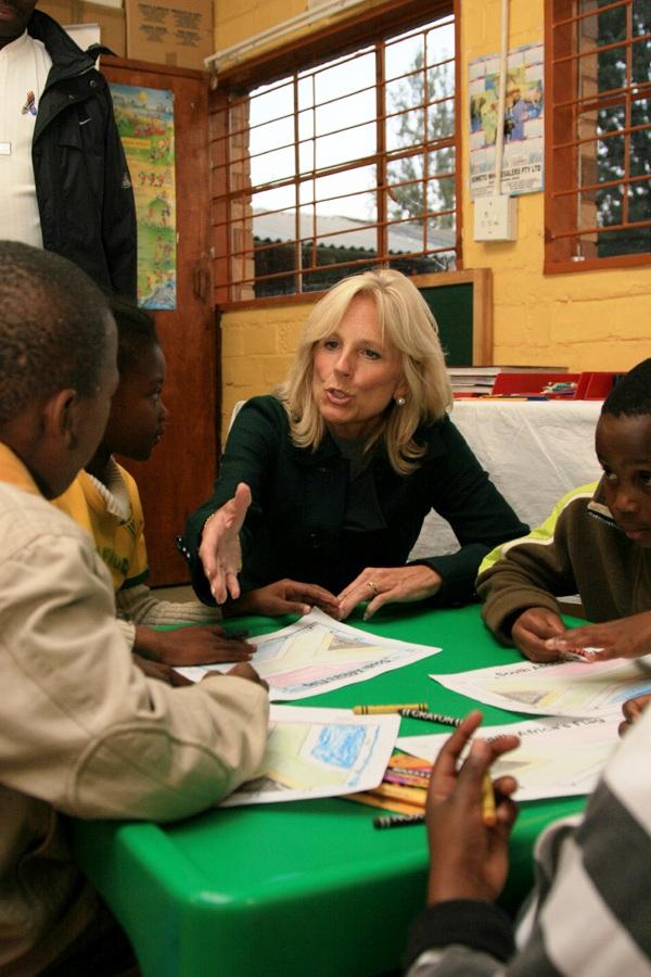 Dr. Jill Biden Interacts With Children