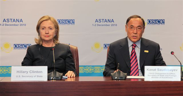 Secretary Clinton Holds a Press Conference With Kazakh Foreign Minister Saudabayev