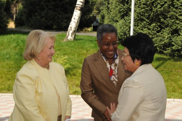 Ambassadors Spratlen and Verveer Speak With Kyrgyz Republic President Otunbayeva