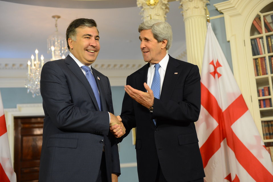 Secretary Kerry Meets With Georgian President Saakashvili
