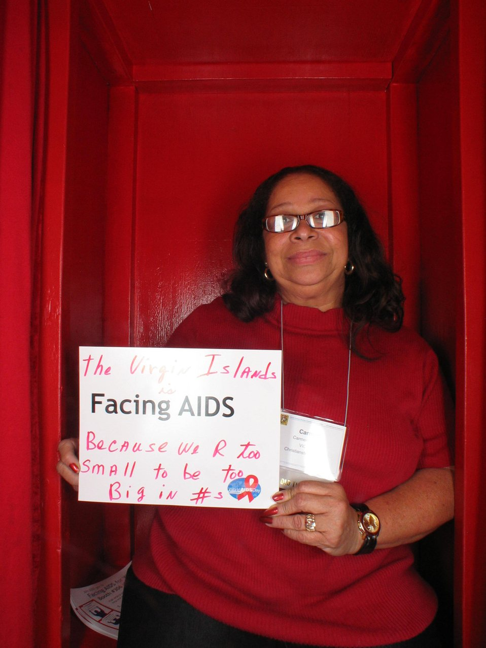 Facing AIDS because we are too small to be this big in #s