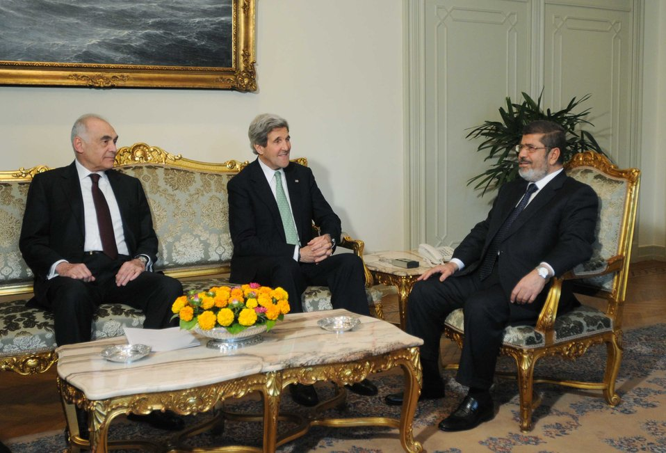 Secretary Kerry Meets With Egyptian President Morsy and Foreign Minister Amr