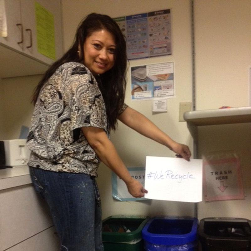 EPA Employee Debra Recycles