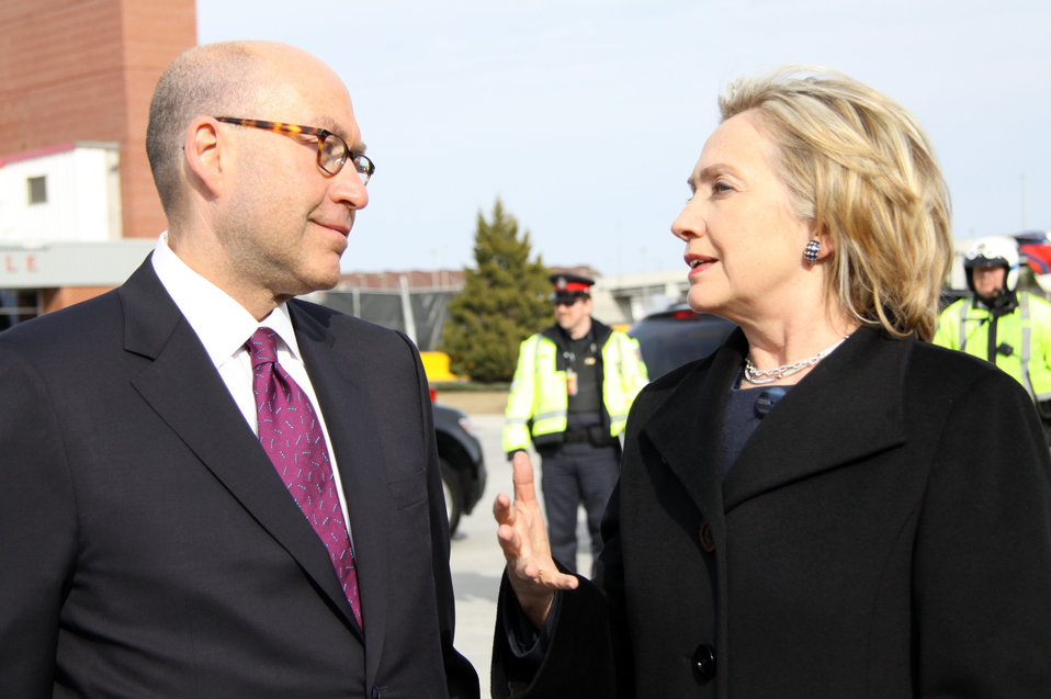 Secretary Clinton Arrives in Ottawa, Canada
