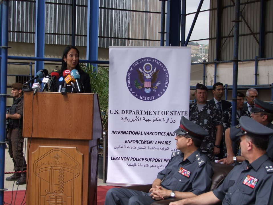 Ambassador Sison Delivers Remarks to Lebanese Internal Security Forces