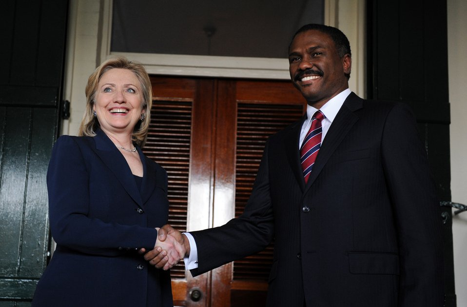 Secretary Clinton Meets With Haitian Presidential Candidate Celestin