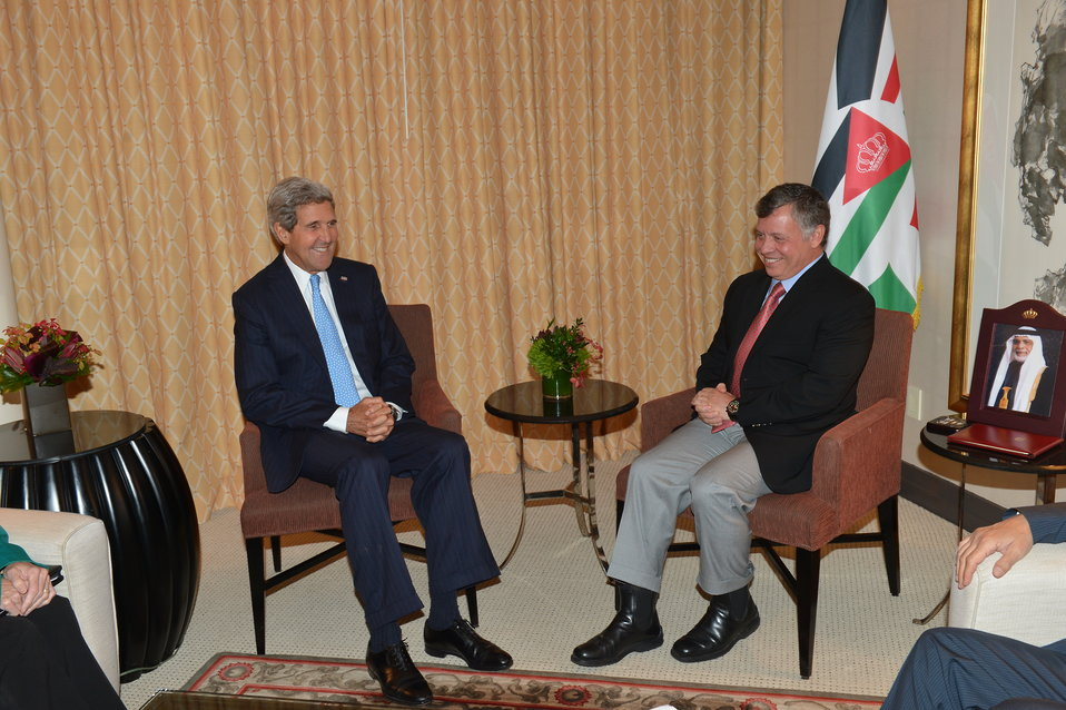 Secretary Kerry Meets With Jordanian King Abdullah
