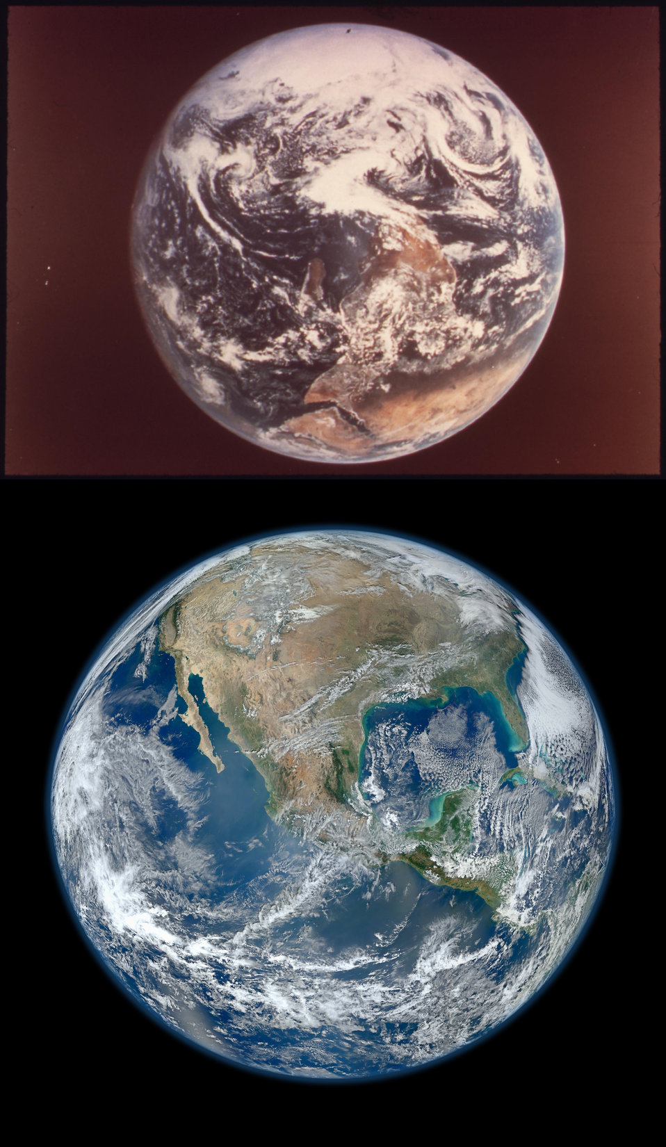 Earth - Then and Now Courtesy of NASA