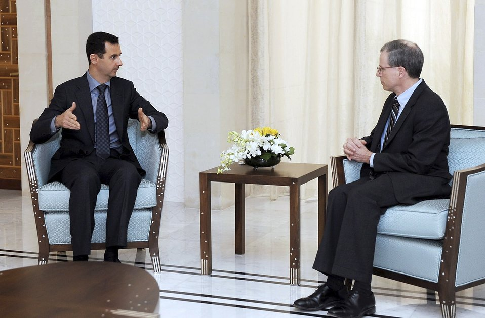 Syrian President Assad Meets With Ambassador Ford