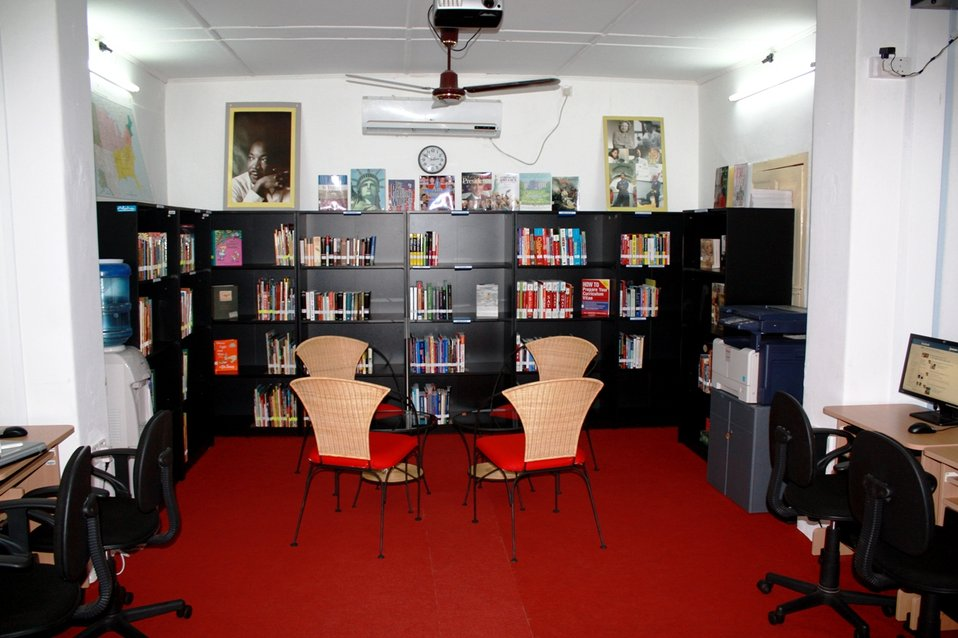 Chairs Are Set Up for the Opening of the American Corner Jaffna