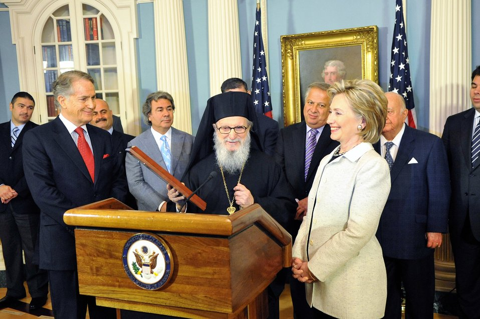 Secretary Clinton Receives National Coordinated Effort of Hellenes Award