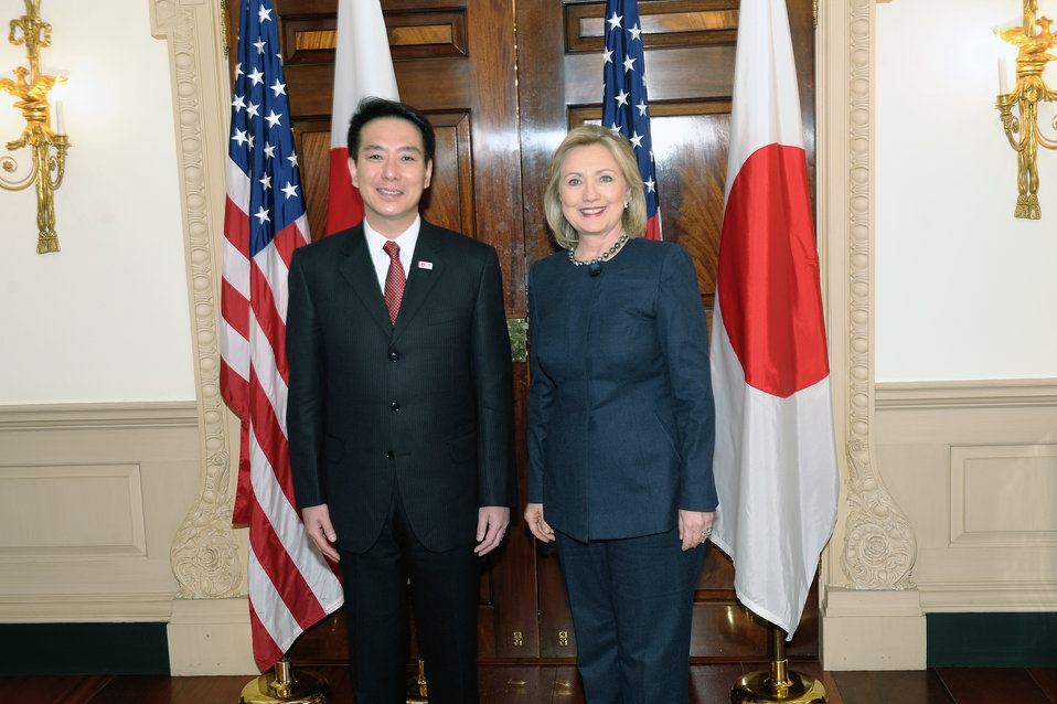Secretary Clinton Hosts a Bilateral Meeting With Japanese Foreign Minister Seiji Maehara