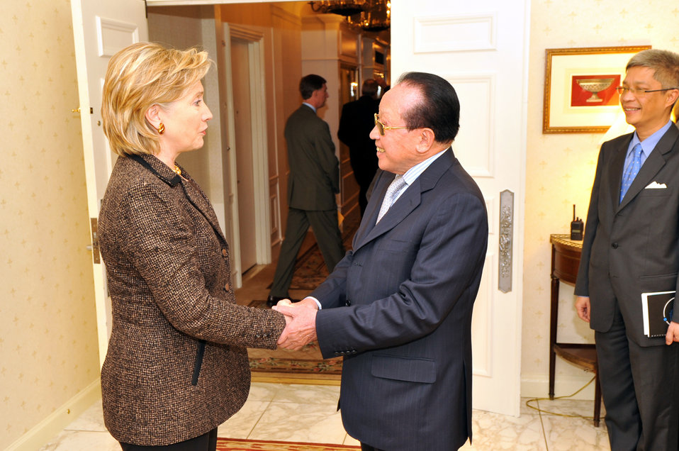 UNGA 2009: Secretary Clinton Meets With Cambodia Foreign Minister
