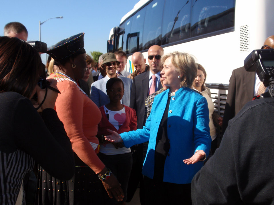 Behind the Scenes: Secretary Clinton Visits Victoria Mxenge Housing Development
