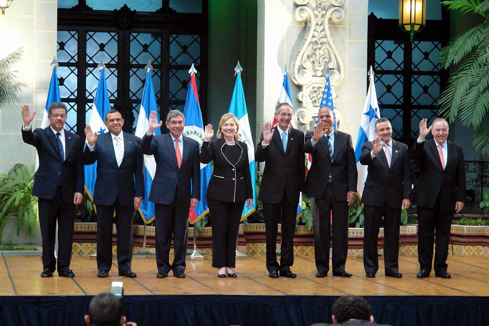Secretary Clinton With Central American and Dominican Republic Leaders