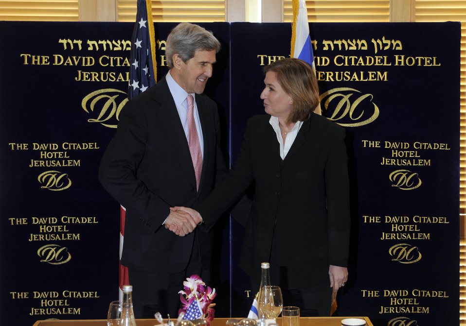 Senator Kerry With Israeli Opposition Leader Tzipi Livni