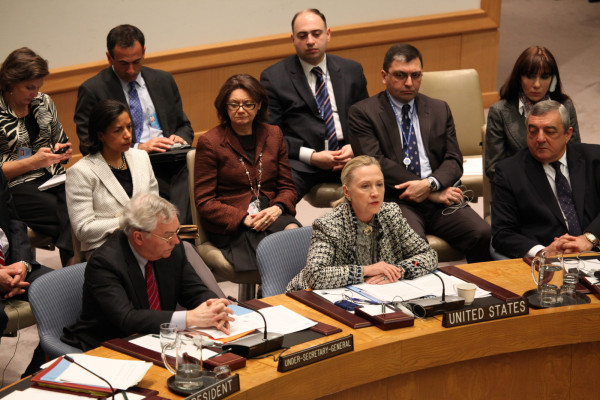 Secretary Clinton Participates in a UNSC Session on the Middle East