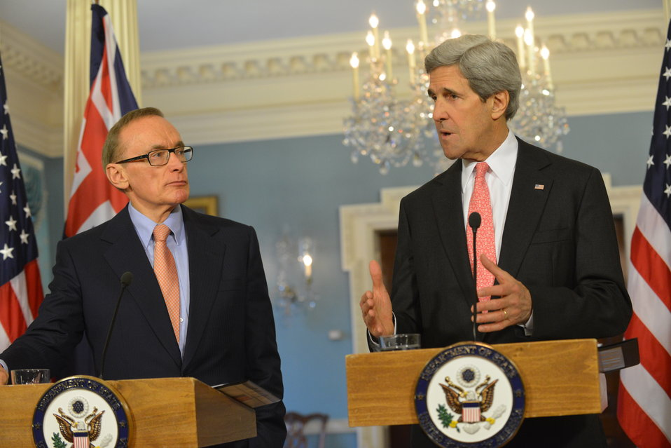 Secretary Kerry and Australian Foreign Minister Carr Address Reporters