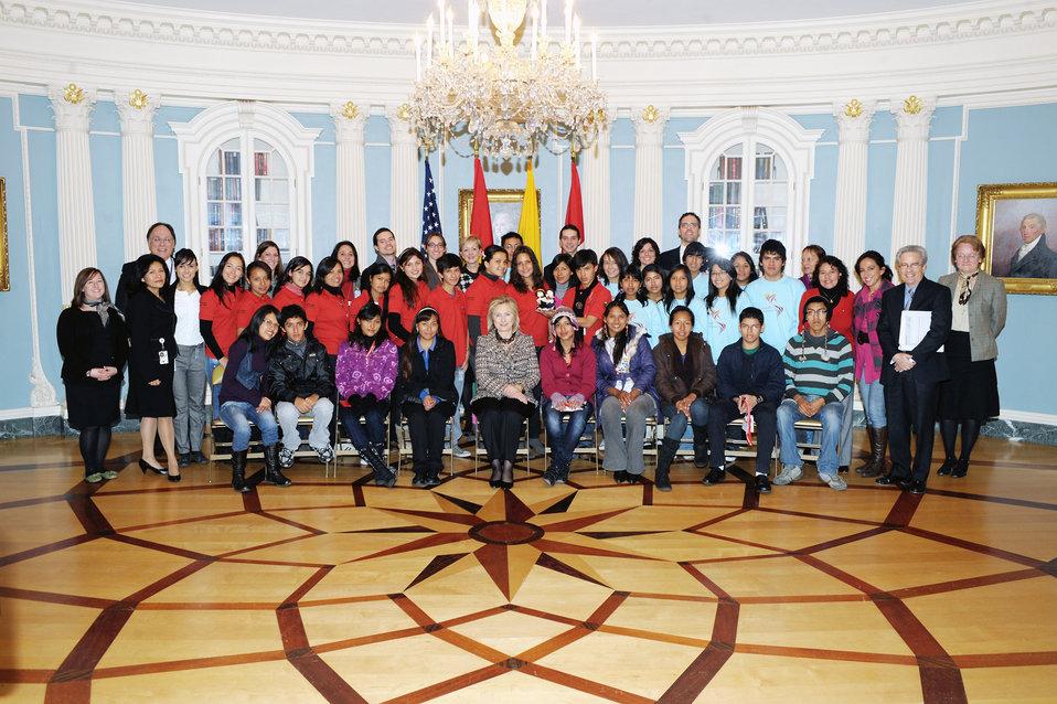 Secretary Clinton Meets With Bolivian, Ecuadorian, and Peruvian Youth Ambassadors