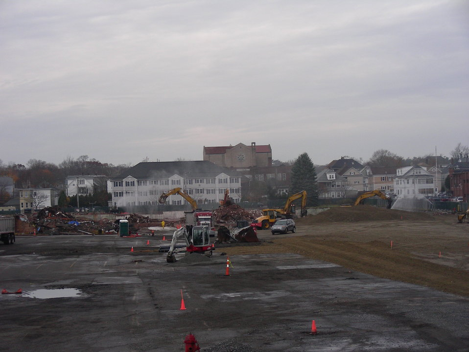 November 14, 2011 The Aerovox Mill demolition is nearly complete!