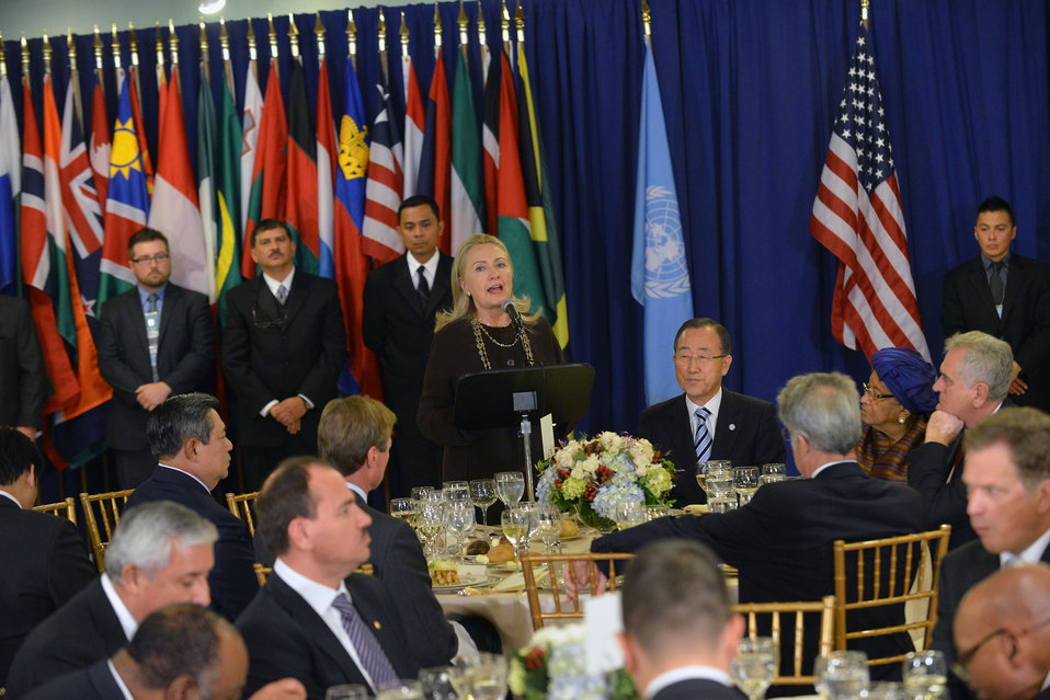 Secretary Clinton Delivers Remarks at the Head of State Luncheon at the United Nations