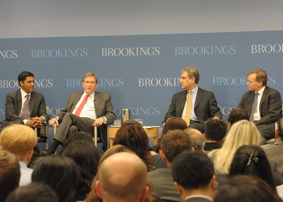 USAID Adminstrator Shah, Special Representative Holbrooke, Pakistani Foreign Minister Querishi, and New American Foundation President Coll Participate in a Panel