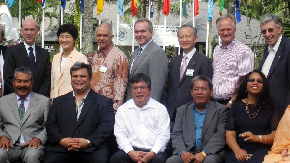 Assistant Secretary Campbell With Pacific Leaders and Member Nations of the Pacific Island Forum (PIF) Post Forum Dialogue