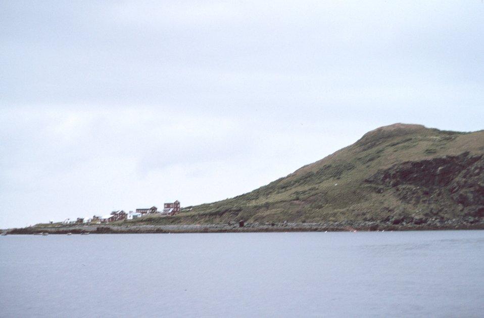 The village of Larsen Bay on Uyak Bay.