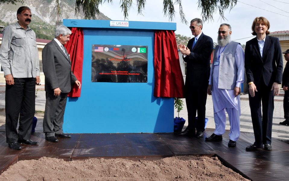 The United States Ambassador to Pakistan, Richard Olson broke ground for a U.S. funded construction of a new Faculty of Education building in Muzaffarabad, AJK.  17